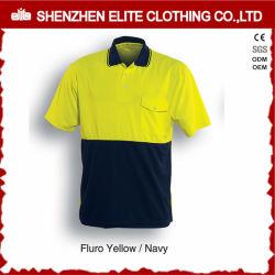 핫셀링 블루 옐로우 리플렉티브 세이프티 워크 폴로 셔츠 남성용 (ELTSPSI-5)