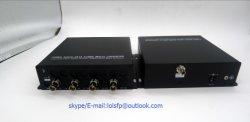 4 Channel 3G/HD-SDI pour convertisseur fibre optique mode unique émetteur et récepteur fibre unique connecteur Fibre Optique ST/SC.