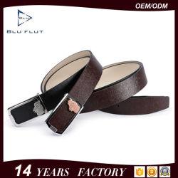 Accesorios de ropa de moda los cinturones hebilla de prensa de cuero para hombres