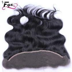 Большой запас прозрачные кружева фронтальной человеческого волоса 13*4 швейцарских кружева фронтальной кружева закрытия