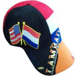 チノのあや織りバンド縞はパッチの昇進の帽子および昇進の帽子をカスタム設計する