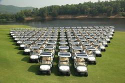 La energía solar 4 plazas de carros de golf eléctrico