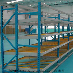 Magazijn Industrial Storage Steel Pallet Carton Gravity Flow Rollers Rack