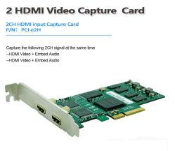 二重HDMIのビデオ会議のキャプチャカード1080P/60 Vmix/Xsplit/Vlc/Virtualdub/Vidblaster/Obsのパソコンのための生きている流出のゲームのビデオWebcasting記録カード