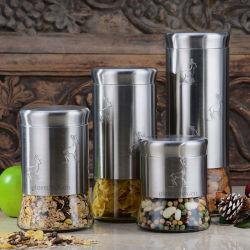 Le thé en acier inoxydable café Sucre Canisters Set de cuisine