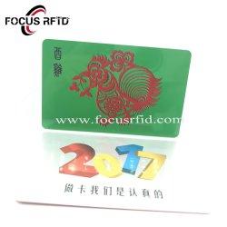 관례 NXP U 부호 RFID 지능적인 플라스틱 카드 Ntag 213 PVC 충절 카드