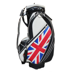 Pavilhão do REINO UNIDO 9,5 polegadas PU saco de golfe de couro