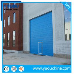 Indutrial extérieur motorisés extérieure de porte de garage sectionnelles de levage aérien