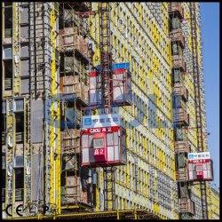 قفص وحيدة كهربائيّة يزوّد بناء مصعد مع [س]