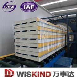 0,3-0.8мм стене крыши PU Сэндвич панели с помощью PPGI ISO