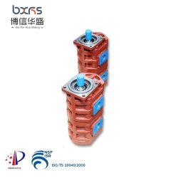 Roheisen-Doppelt-hydraulisches Richtungsöl-Tandemübergangsbucher-Drehzahnradpumpe
