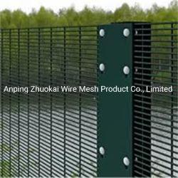 Sécurité élevée 358 Anti escalader la clôture de fil soudé avec revêtement en poudre et de clôture de la prison galvanisé