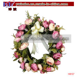 Simulation artificiel Fleur Rose Garland mural à porte Home Decor (H8137)