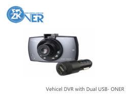 Draaibaar LCD Voertuig DVR met Dubbele Lader USB
