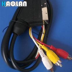21-контактный кабель AV SCART к 3кабель RCA и аудио кабель