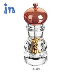 Moulin à sel poivre manuel Acrylic Grinder avec du sel Shaker