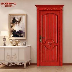 Porta interior do balanço de madeira antigo do quarto do artesão do estilo (GSP2-014)