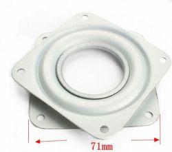 3 Inch-quadratische weiße Zink-Drehscheibe 3 Inch-kleine Ausstellungsstand-Hardware-Zubehör-Universalität 3 Inch-Drehscheibe