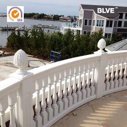 Openlucht Balustrade mcy-70 van het Balkon van de Kolom van de Decoratie Goedkope Witte Marmeren