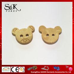 아이들 피복을%s 귀여운 곰 디자인 자연적인 목제 단추