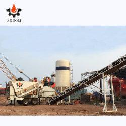 Costi bassi diplomati Ce&ISO di investimento e di funzionamento di brevetto nessuna betoniera d'ammucchiamento mobile della pianta del fondamento