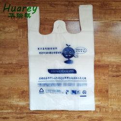 Il PLA modificato della pellicola della resina dell'amido di mais ha basato il sacchetto 100% di rifiuti biodegradabile della maglietta trasparente residua concimabile