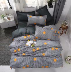 Alimentation en usine 100% coton consolateur couvre-lit rayé de la soie de luxe feuilles ensembles de literie défini pour la vente