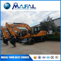 Полное гидравлическое 360 градусов Mafal 4 колес 13 тонн экскаватор
