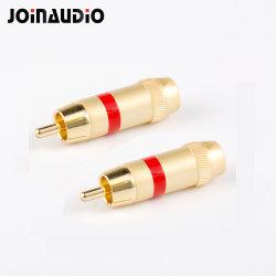 Conector RCA macho de gama alta de soldadura para señal Cable de audio (JMZY-62)