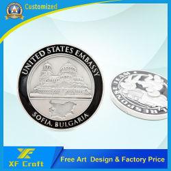 China Großhandel Custom 2D Metall Handwerk Beschichtung Silber Militär Polizei Souvenir-Münze für Werbegeschenk (CO07)