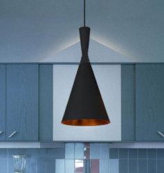 Lamp van de Tegenhanger van de Club van de industrie de Moderne Zwarte Hangende met de Zwarte het Schilderen Vorm van het Metaal