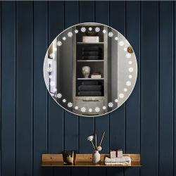 Runde LED spiegelt intelligenten Eitelkeits-Badezimmer-Spiegel mit den Backlit Lichtern wider