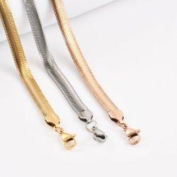 Hot Sale 304 Chaîne serpent plats en acier chirurgical Necklace Bangle Craft Design de Mode de bijoux en acier inoxydable plaqué or