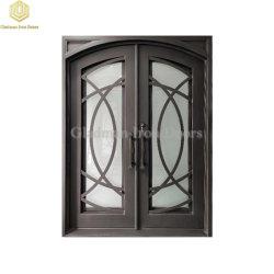 Portello vetro/metallo del ferro saldato di modo del doppio d'acciaio moderno dell'entrata