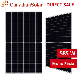 Canadiansolar Mono Facial Hiku7 CS7l-MS-R 580W 585W 590W 595W 600W 605W Solar Panel Module Mono PERC Half Cell for Commercial 주거용 옥상 태양열 시스템