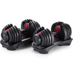 En Stock equipos de gimnasio en casa conjunto pesa de hierro fundido de goma ajustables de la máquina de ejercicios con pesas