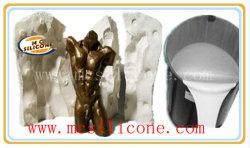 A escultura de resina fazer moldes de silicone líquido