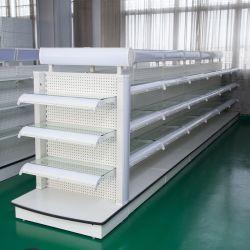Supermercado Supermercado Cosméticos Prateleira Prateleiras branco com luz de LED