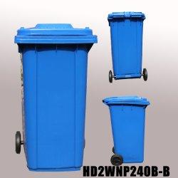 240 litre poubelle de déchets plastiques en plein air avec 2 roues