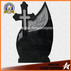 Pierre tombale monument en pierre de granit noir