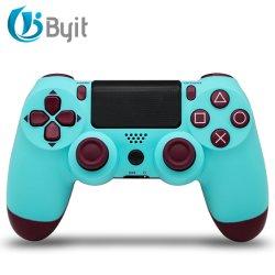وحدة التحكم في الألعاب اللاسلكية Byit لجهاز PS4 - عصا التحكم عن بُعد الخاصة بلاي ستيشن 4 من سوني مع كابل الشحن والصدمة المزدوجة (تمويه رمادي، 2021 جديد)