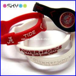 Silicone personalizado da Energia Energia bracelete de iões negativos (P5200)