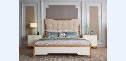 مبيعات ترويجية لتصميم جديد لعام 2020 سرير من الخشب الصلب لـ تم إعداد غرفة نوم الفندق