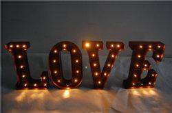 Luz de palavra de amor com a decoração de Natal Luz Meatl LED