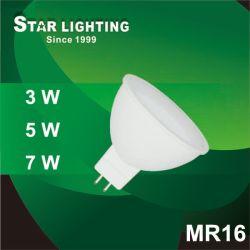 Durée de vie 20000H 5W Spot LED MR16 lampe avec angle de faisceau de 120 degrés