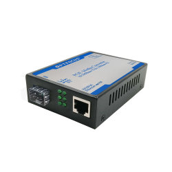 Rede 10/100Mbps Fe portas SFP para fibra óptica com fonte de alimentação Poe Switch Conversor de mídia