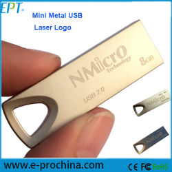 프로모션 선물 무료 로고 메탈 미니 USB 플래시 드라이브