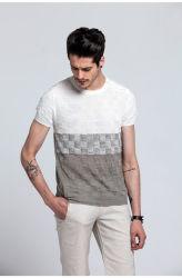 Venda por grosso de tricotar programável de Verão homens suéter