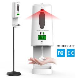Distributeur automatique de Sanitizer Distributeurs de savon à main automatique électrique avec capteur de température