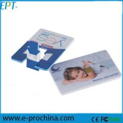 Commerce de gros de l'impression pleine couleur pivotant lecteur Flash USB de carte de crédit